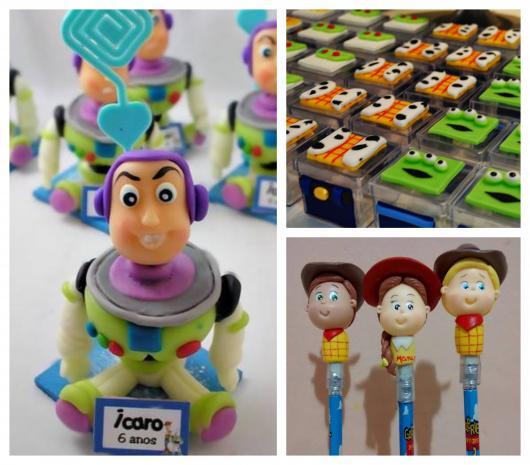 Teste sua habilidade com biscuit para fazer lembrancinhas Toy Story