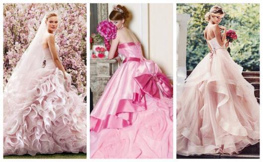 Vestido De Noiva Rosa Significado 70 Inspirações Maravilhosas