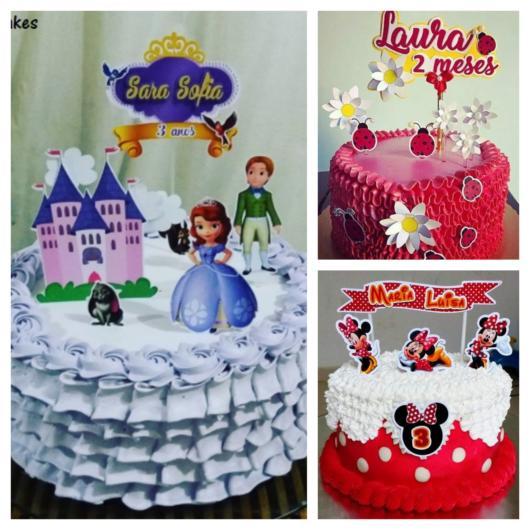 60 opções incríveis e magníficas de topo de bolo para imprimir grátis!