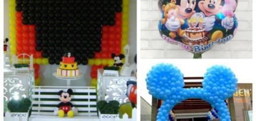 Arcos, paineis ou balões metalizados. Confira dicas de balões do Mickey!