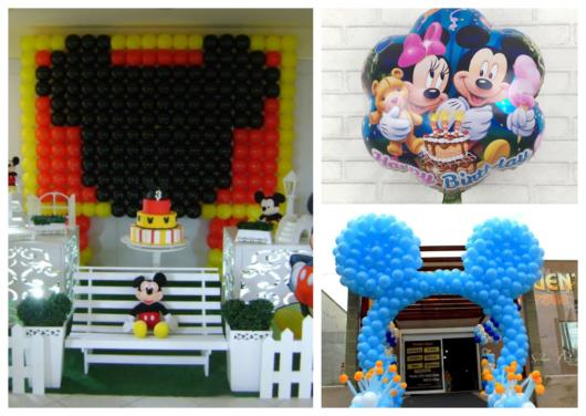 efe7b4274ae Balão do Mickey – 50 Modelos Super Fofos para Decorações de Festas!