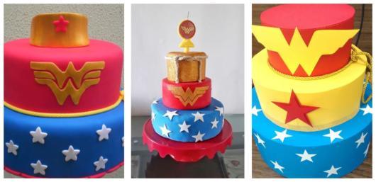 Além de aniversários, o tema Mulher Maravilha pode ser usado em outros tipos de festas