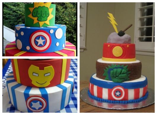 Ideias de decoração do bolo fake dos Vingadores