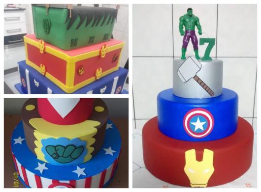 Veja bolos fake com um andar para cada Vingador