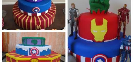 O bolo fake Vingadores pode ter diversos formatos