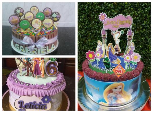 Fique por dentro de várias ideias sobre o bolo da Rapunzel