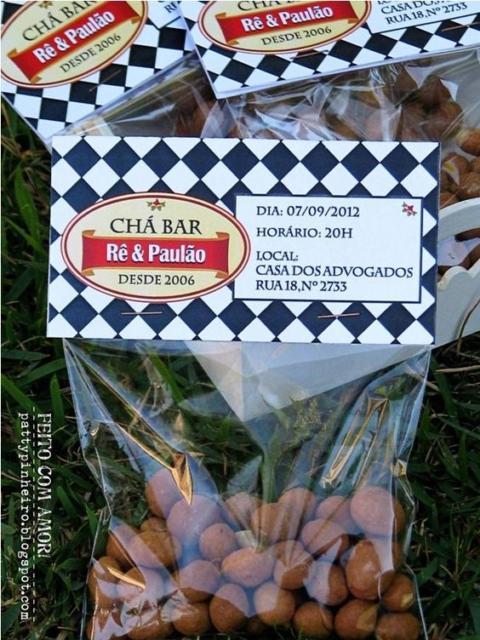 Chá Bar: Lembrancinha amendoim