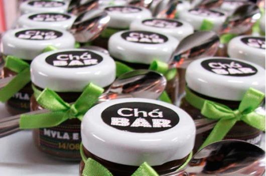 Chá Bar: Lembrancinha potinho com doce