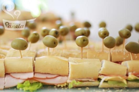 Cardápio para Chá Bar: Sanduíche de frios
