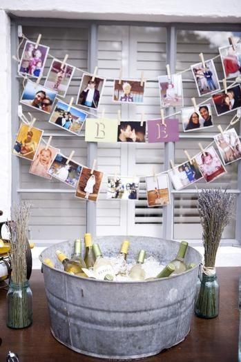 Chá bar: Decoração rústica com fotos