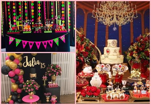 Como organizar uma festa de 15 anos: Modelos de decorações
