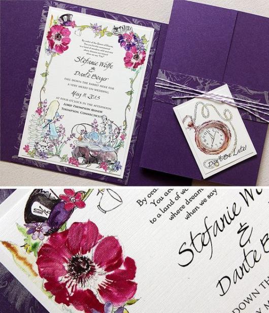 Convite Alice no País das Maravilhas: Cartão personalizado
