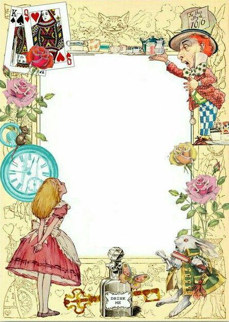 Convite Alice no País das Maravilhas: Modelo para imprimir