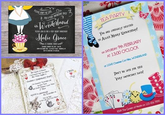 Convite Alice no País das Maravilhas: Inspirações