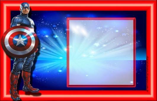 Convite Capitão América para editar e imprimir grátis