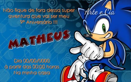 O Sonic é uma inspiração para crianças de todas as idades