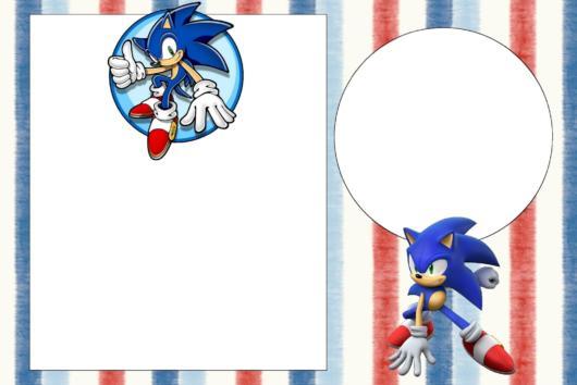 Template do Sonic pronto para imprimir