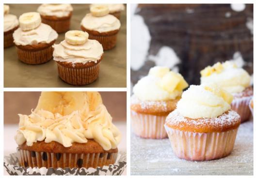 Conheça com a gente lindas ideias de cupcake de banana!