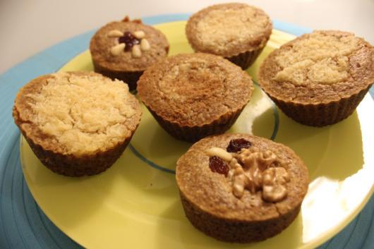 Sugestão de cupcake saudável de banana com aveia