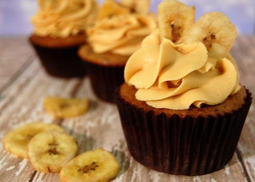 Veja que cupcakes lindos de banana