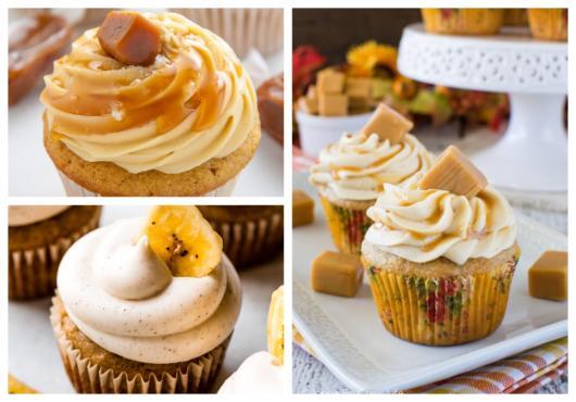 Dicas de decoração do cupcake com banana e doce de leite
