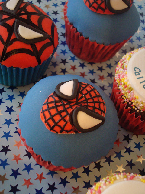 Cupcake do Homem Aranha customizado e magnífico