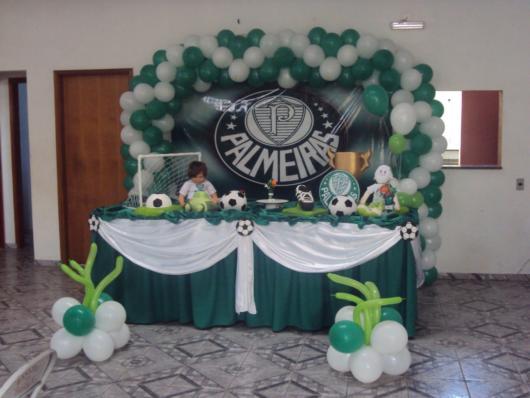Uma boa ideia de decoração do Palmeiras simples para fazer em casa