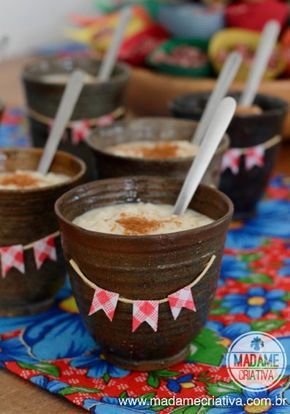 Doces para chá de bebê junino: Canjica doce