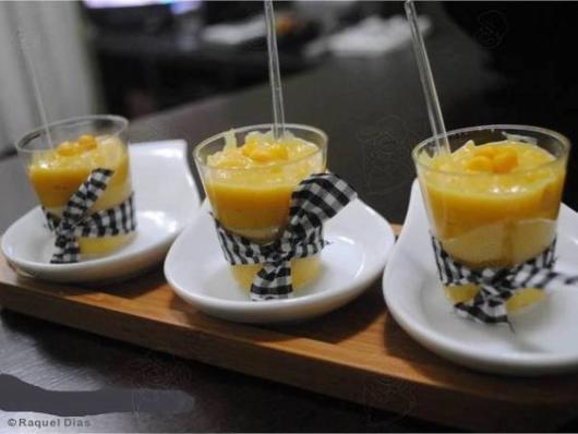 Doces para chá de bebê junino: Curau