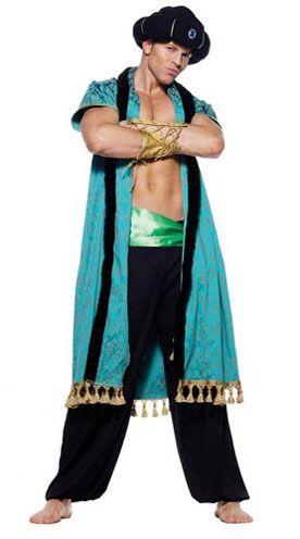 Fantasia indiana masculina azul e preta