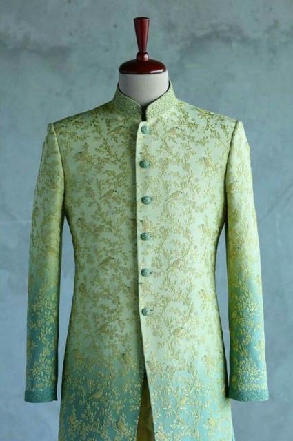 Fantasia indiana masculina verde clara
