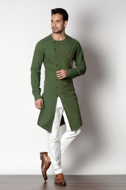 Fantasia indiana masculina verde