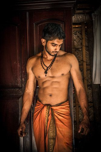 Fantasia indiana masculina laranja