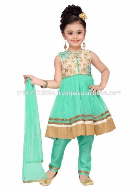Fantasia indiana feminina infantil verde