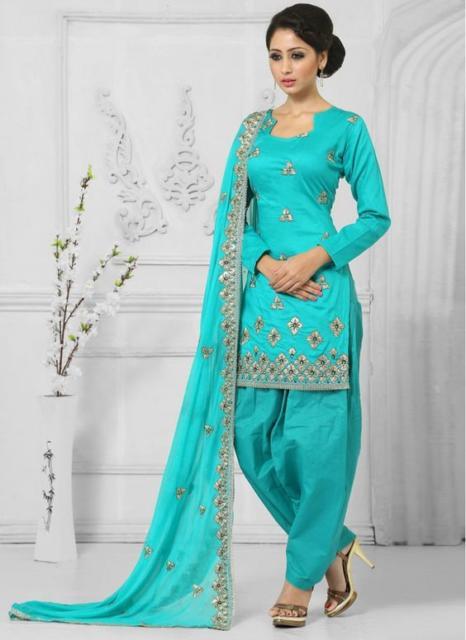 Fantasia indiana feminina azul tiffany