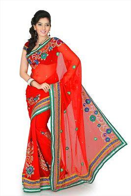 Fantasia indiana feminina vermelha
