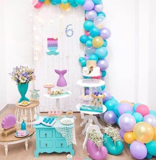Festa Sereia: Simples com balões