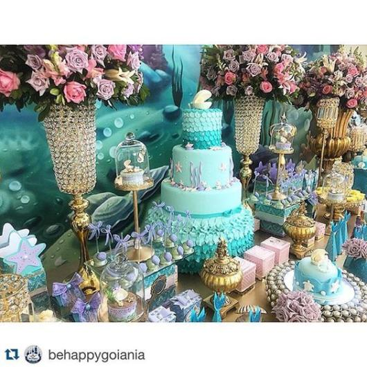 Festa Sereia: Luxo com flores