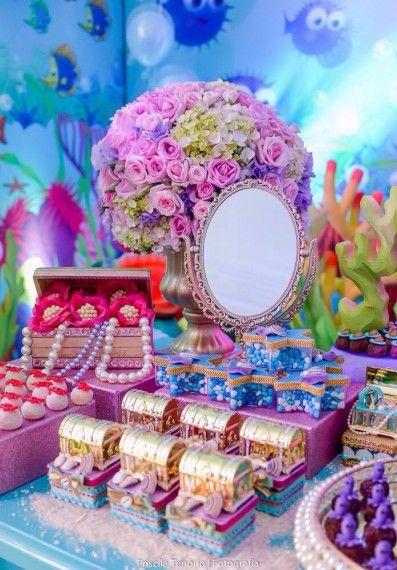 Festa Sereia: Luxo com espelho