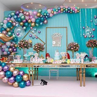 Festa Sereia: Luxo com balões metalizados