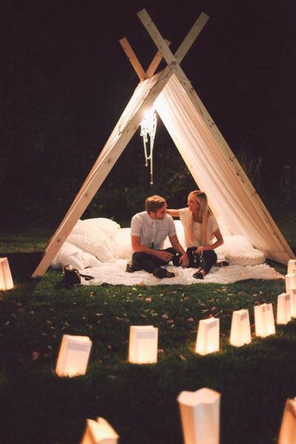 Surpresa de 1 ano de namoro: Acampamento romântico