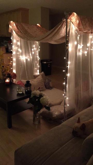 Surpresa de 1 ano de namoro: Decoração com LED