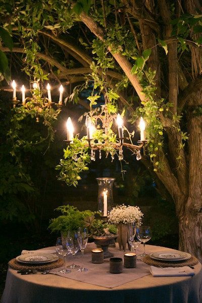 Surpresa de 1 ano de namoro: Decoração para jantar ao ar livre