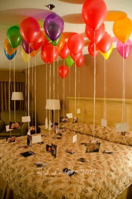 Surpresa de 1 ano de namoro simples: Balões com foto