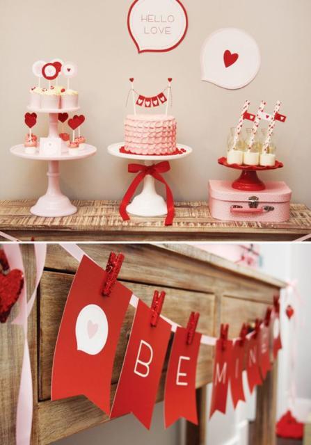 Surpresa de 1 ano de namoro simples: Festa simples vermelha e branca