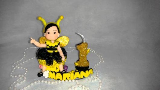 Topo de bolo: Abelhinha