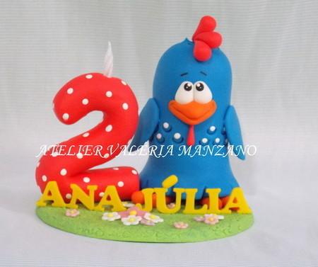 Topo de bolo: Galinha Pintadinha