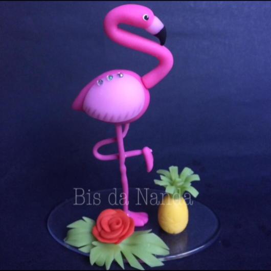 Topo de bolo: Flamingo