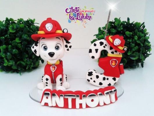 Topo de bolo: Patrulha Canina