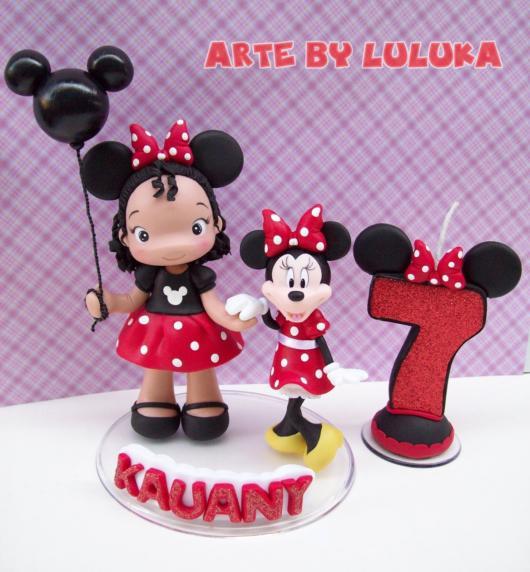 Topo de bolo: Minnie
